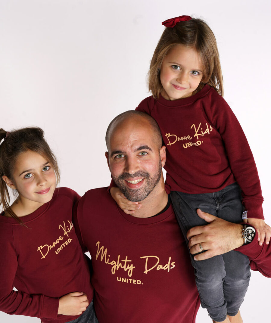 Mighty Dads united & brave kids united twinning sweaters - mangos on monday