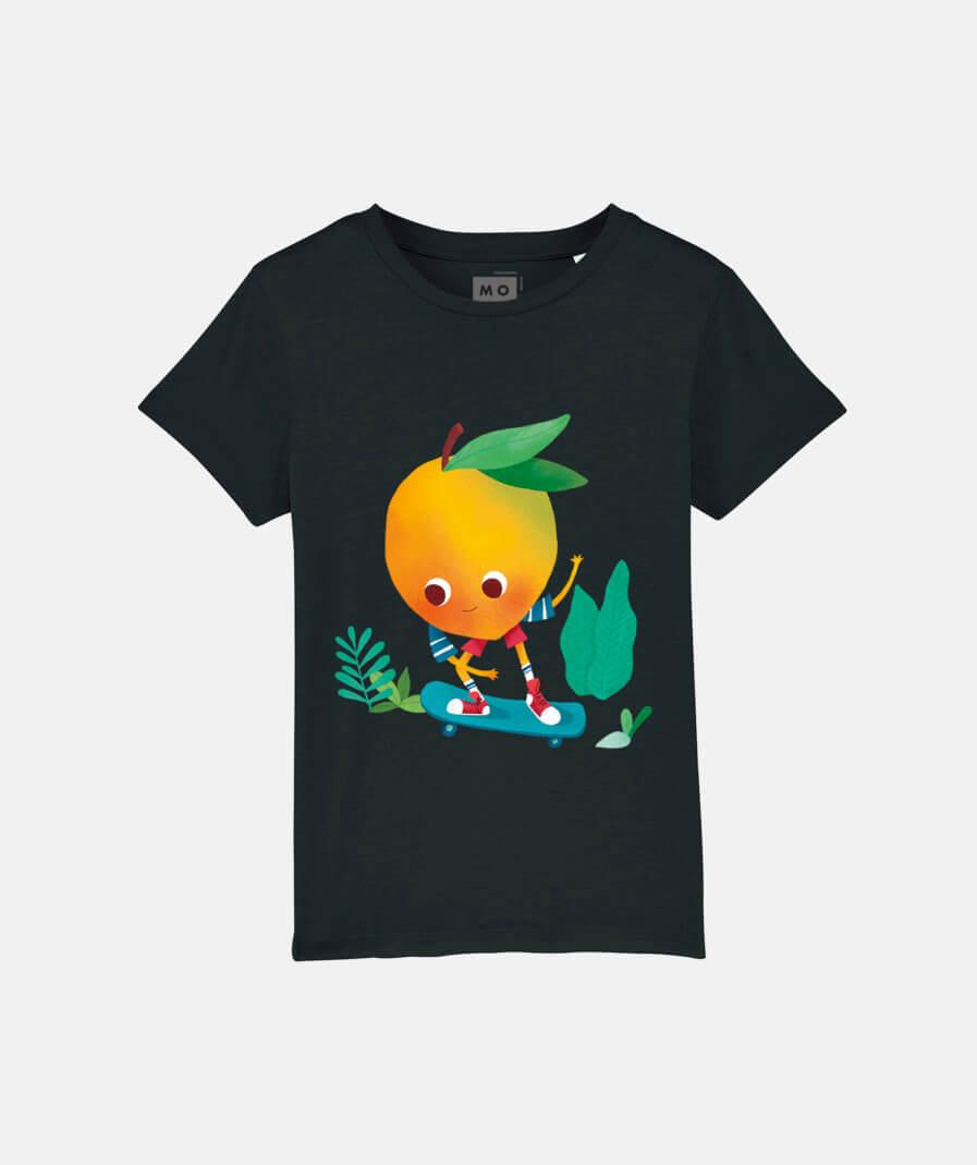 Mango Skater t-shirt black by Mangos on Monday