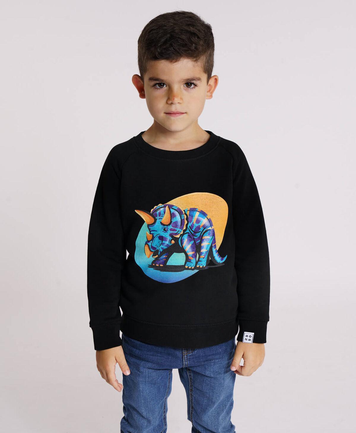 Triceratops sweater - Mangos on Monday