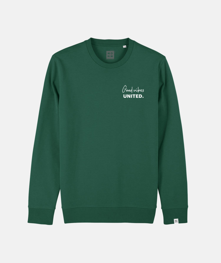 Good Vibes united sweater van Mangos on Monday