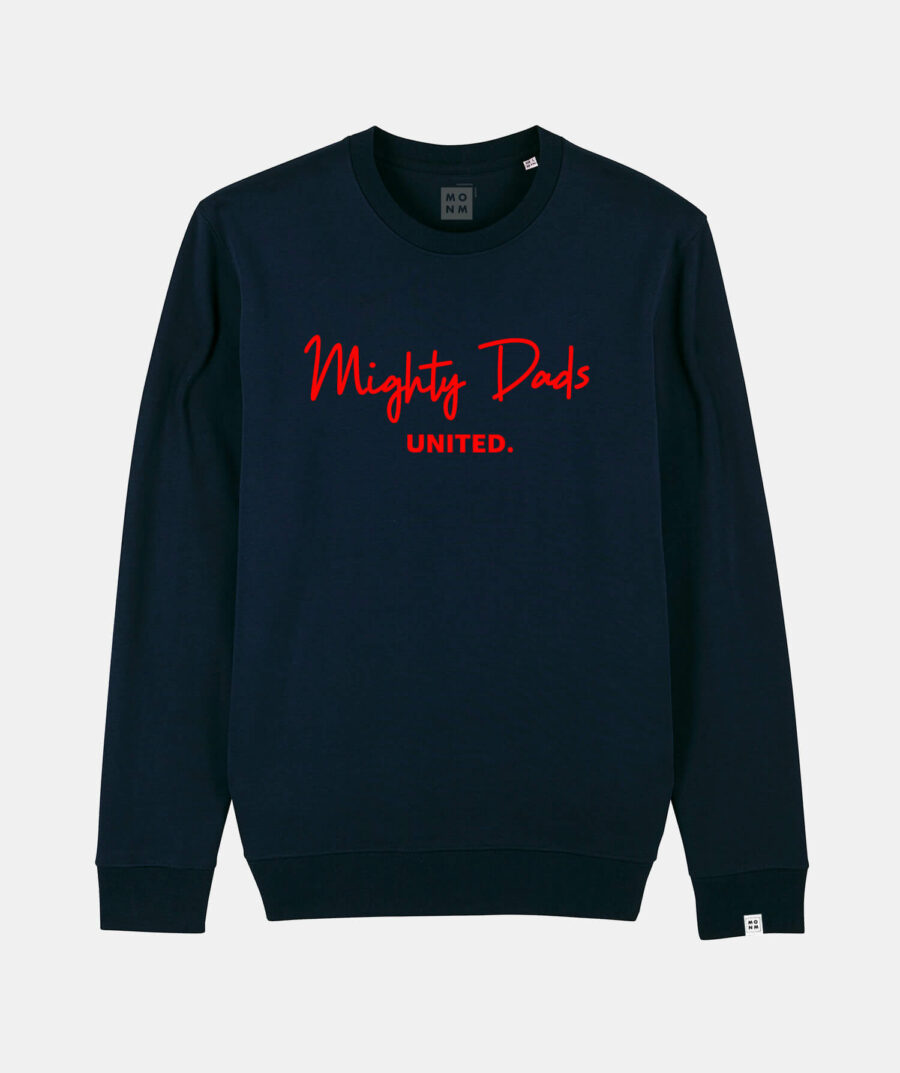 Mighty dads united sweater van Mangos on Monday