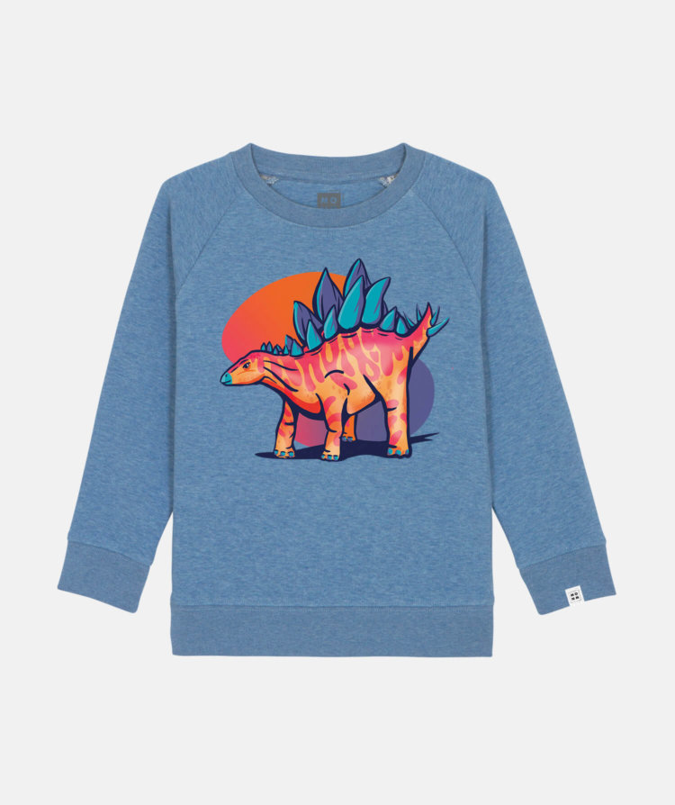 stegosaurus blue dark
