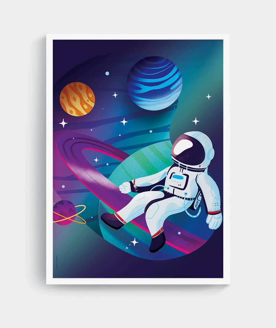 Astronaut Poster by Mangos on Monday