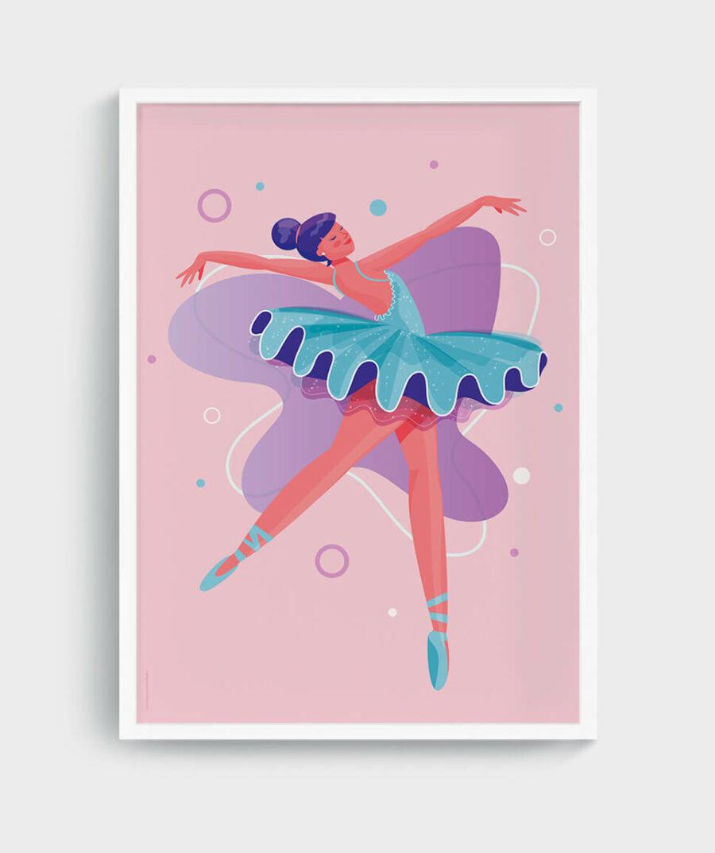 Ballerina Poster by Mangos on Monday
