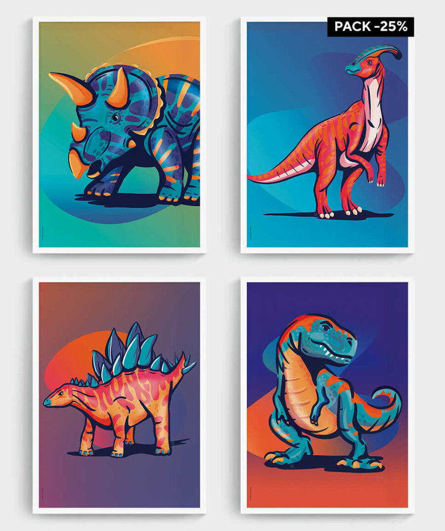 Dino posters - mangos on monday