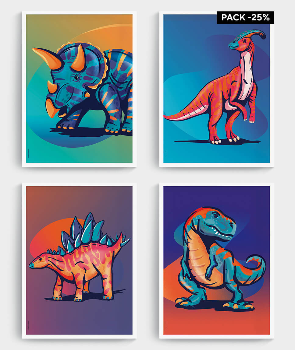 Dino posters - mangos on monday