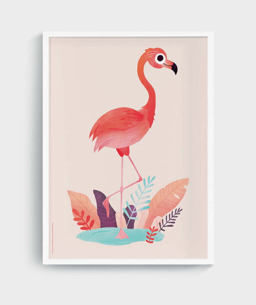 Flamingo poster by Mangos on Monday