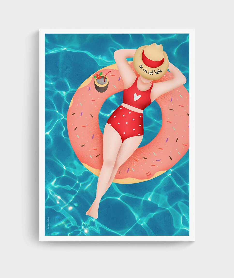 La vie est belle - poster by Mangos on Monday