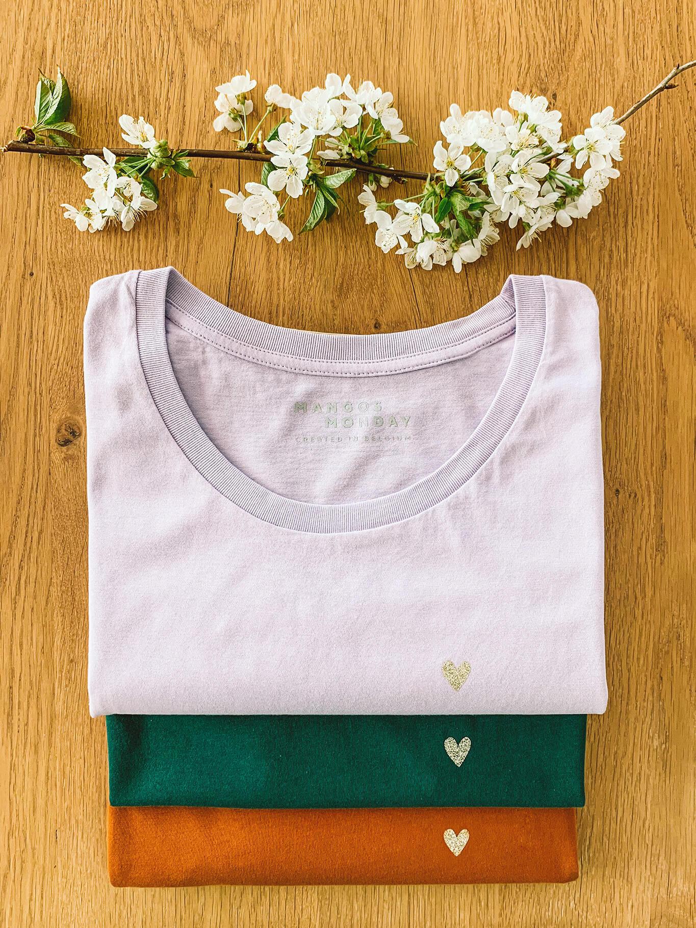 Love (heart) t-shirt by Mangos on Monday
