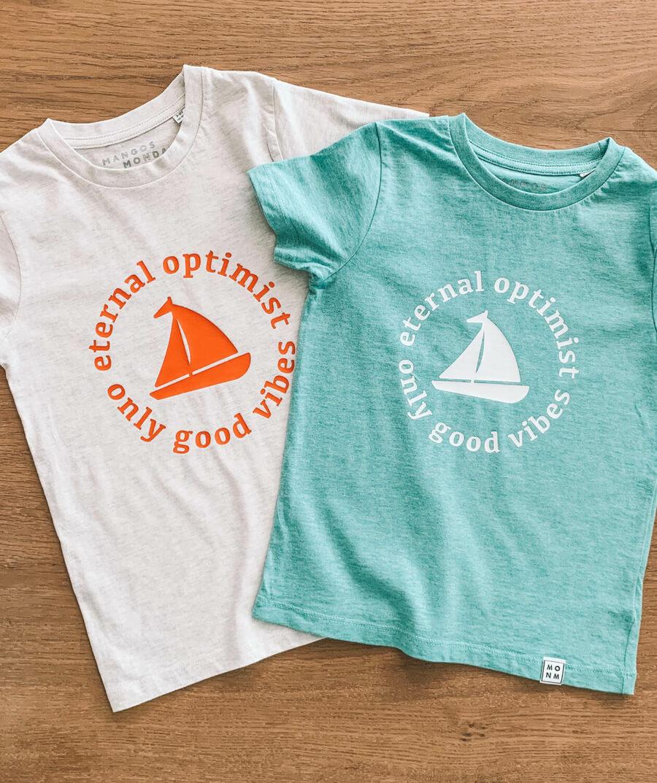 Eternal optimist t-shirt by Mangos on Monday