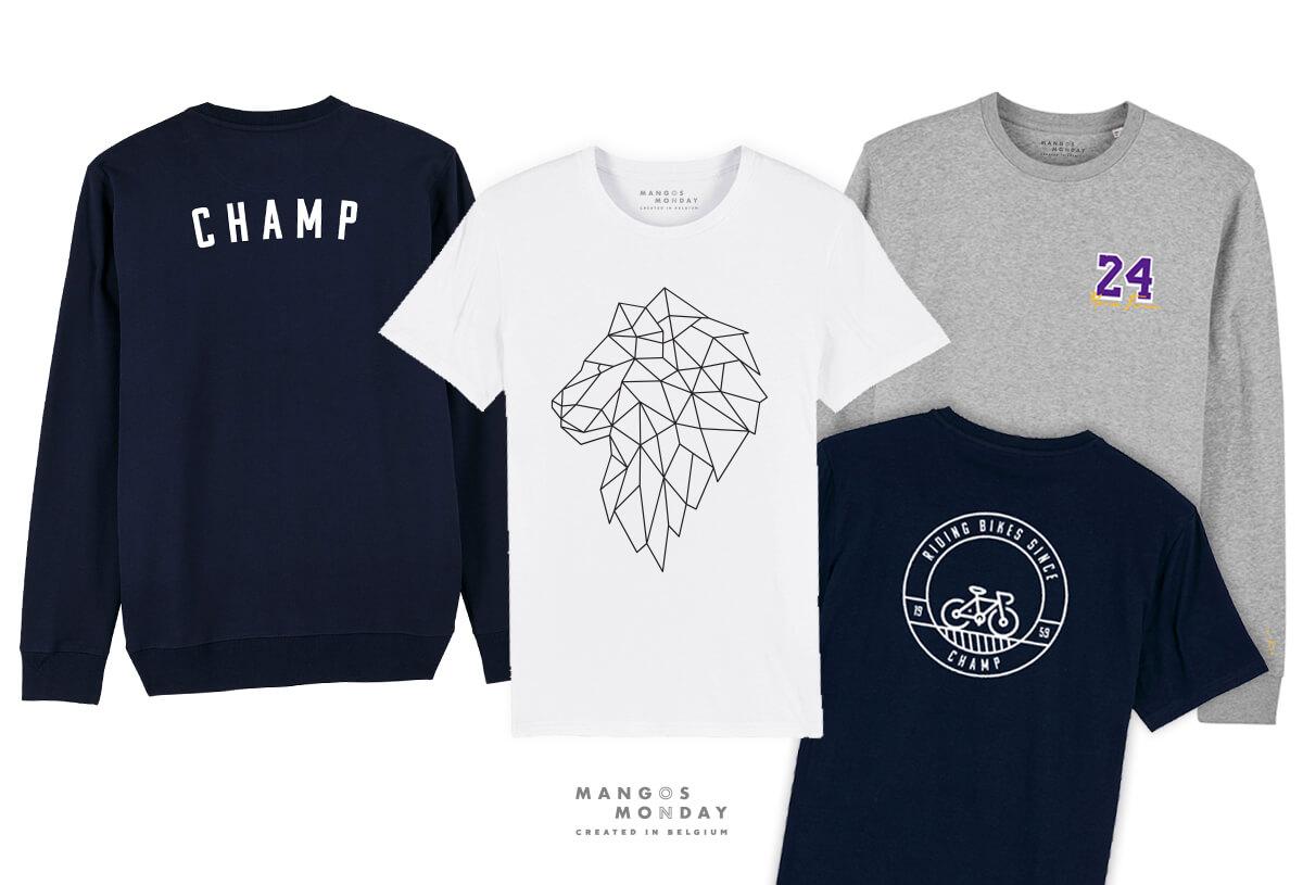 gepersonaliseerde t-shirts en sweaters door Mangos on Monday