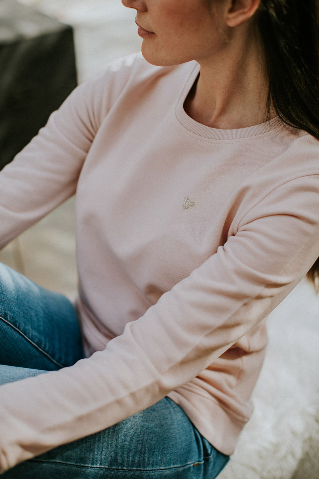 Love marshmallow pink sweater by Mangos on Monday