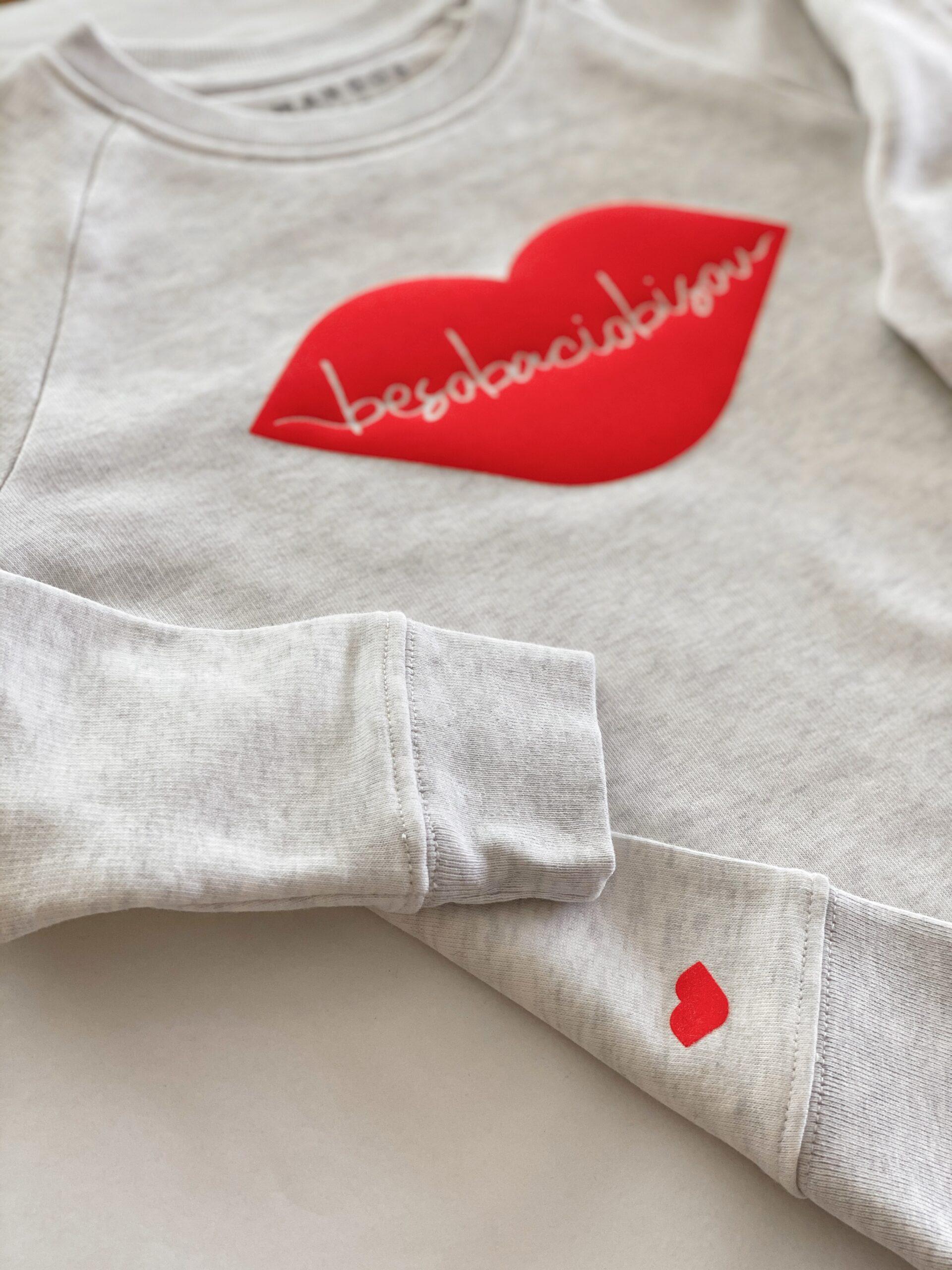 Beso, bacio, bisou sweater by Mangos on Monday