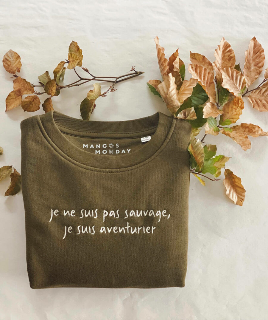 Je suis aventurier sweater by Mangos on Monday