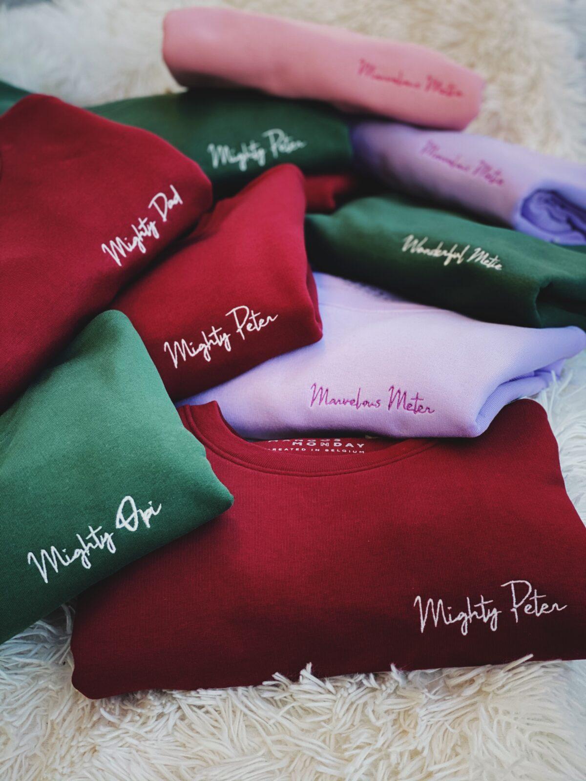 Marvelous tantie & Lovely Metie personalisatie sweater bij Mangos on Monday