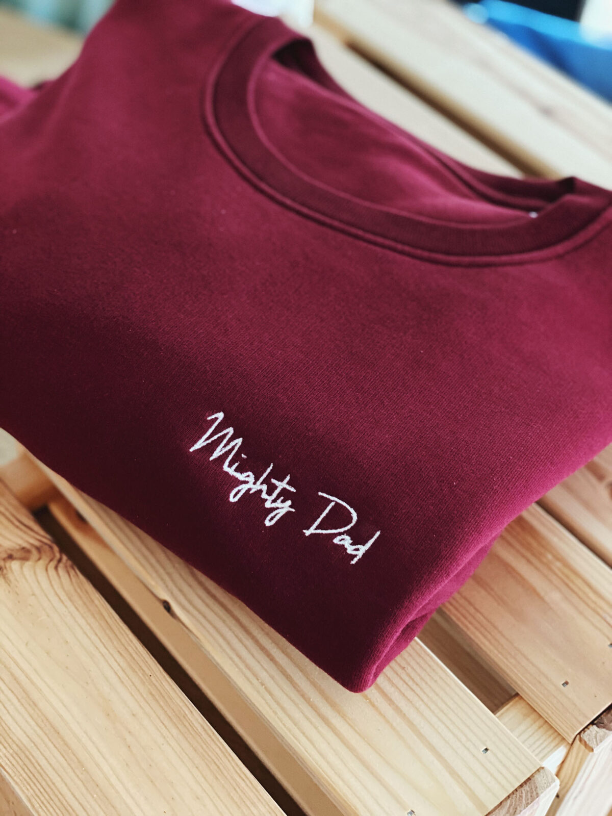 Mighty Dad sweater by Mangos on Monday