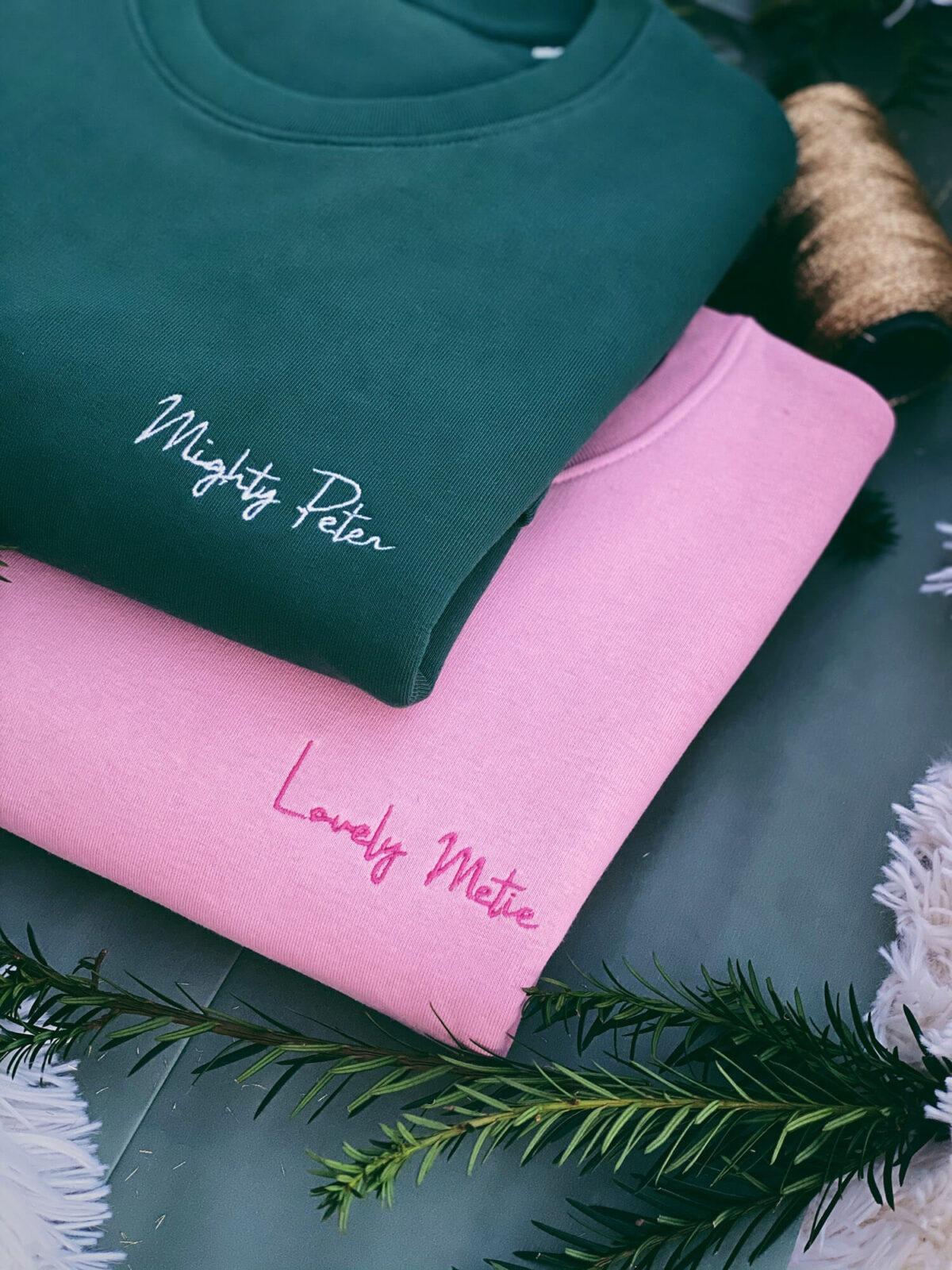 Mighty Peter & Lovely Metie personalisatie sweater bij Mangos on Monday