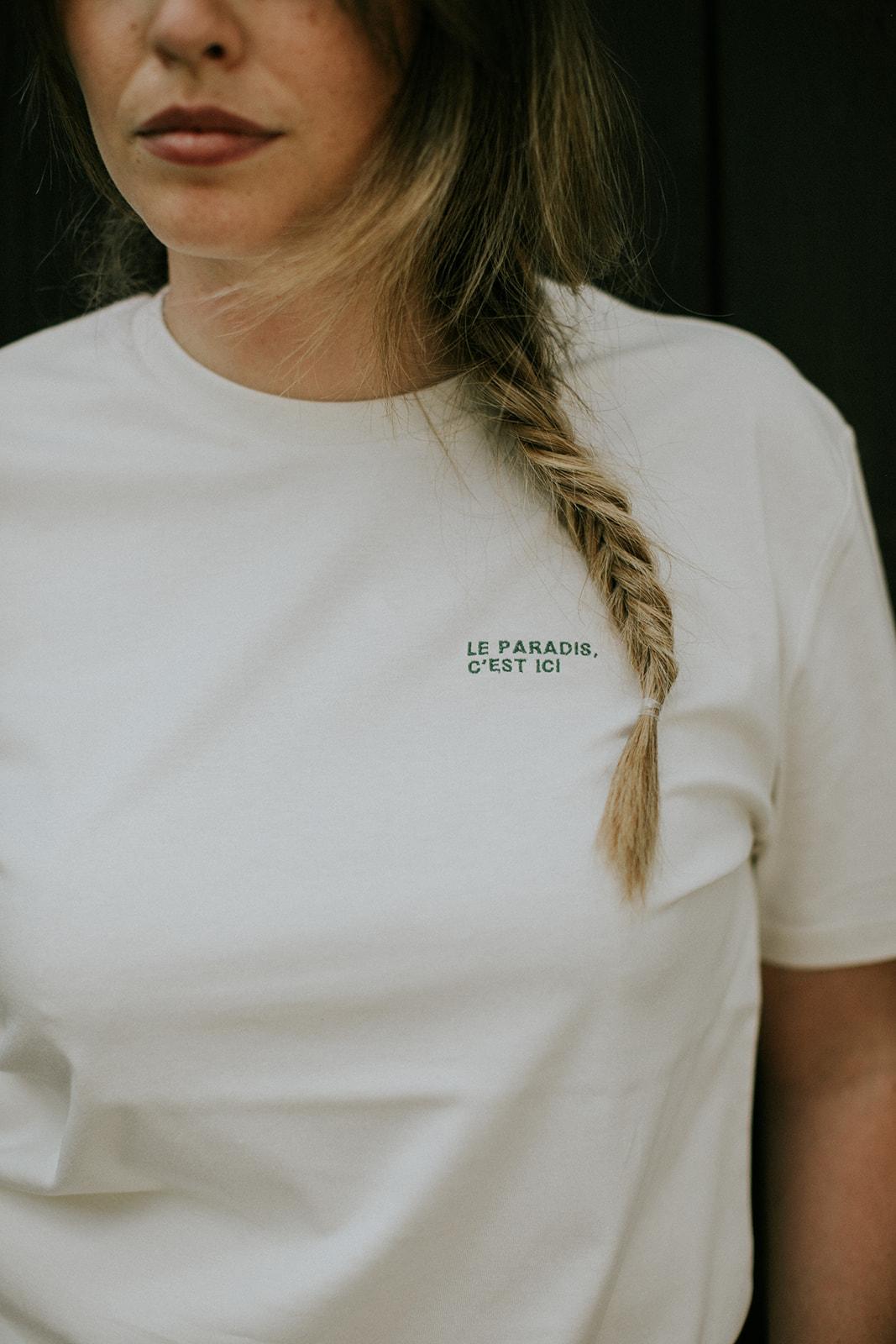 Le paradis, c'est ici t-shirt by Mangos on Monday - Estelle Darimont