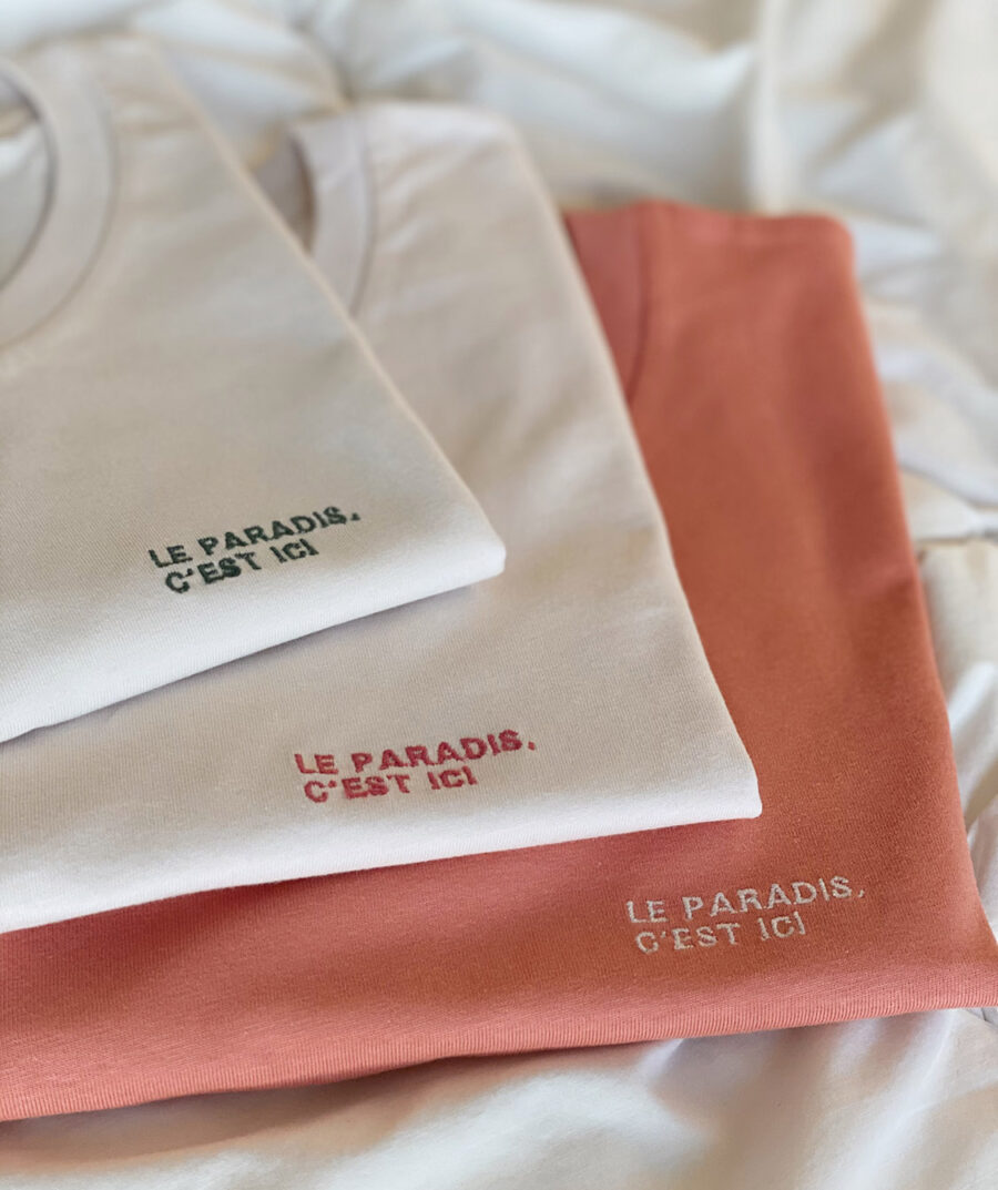 Le paradis, c'est ici t-shirt by Mangos on Monday