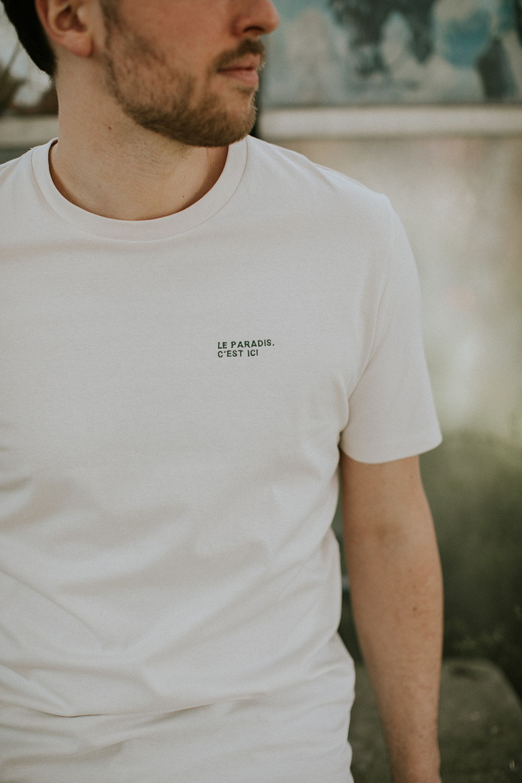 Le paradis, c'est ici t-shirt voor heren - Mangos on Monday