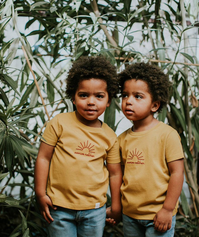 Sunrise catcher t-shirt for kids by Mangos on Monday