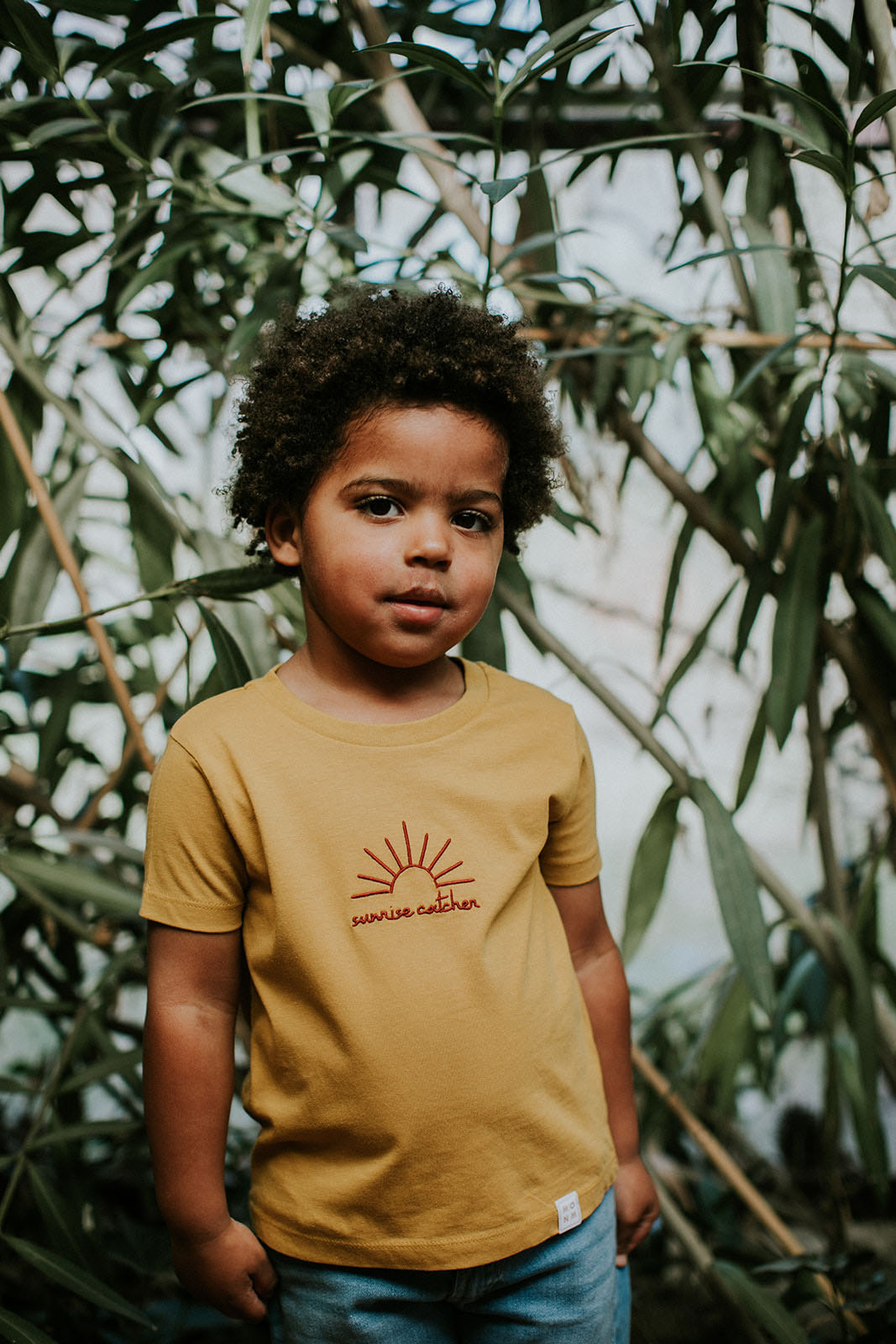 Sunrise catcher t-shirt for kids by Mangos on Monday